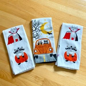 Set of 3 Halloween Hand Towels